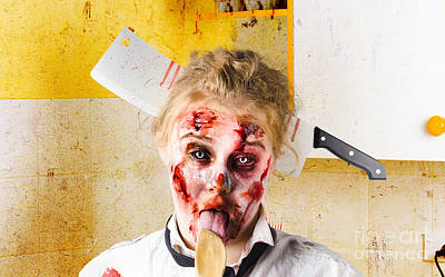 Tasting Photograph - Crazy Sick Monster Eating Gmo Food by Jorgo Photography - Wall Art Gallery