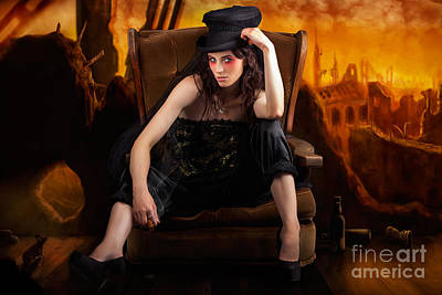 Thoughtful Photograph - Creative Underground Fashion Photo Illustration by Jorgo Photography - Wall Art Gallery
