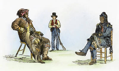 Creek Chiefs & Squatter Art Print