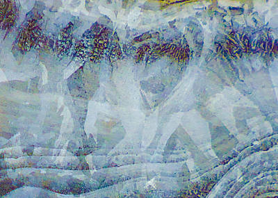 Photograph - Creek Ice Abstract Iv by Christopher Burnett