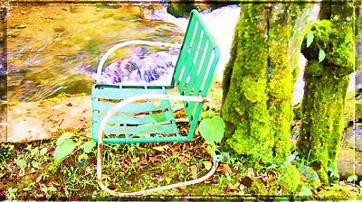 Resting At Creek Side Art Print