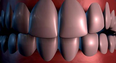 Bite Digital Art - Creepy Teeth  by Allan Swart