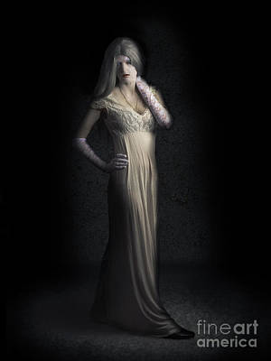 Dracula Photograph - Creepy Vampire Woman With Cracked Skin In Dark Den by Jorgo Photography - Wall Art Gallery