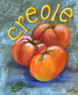 Local Food Painting - Creole Tomatoes by Elaine Hodges