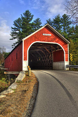 Autumn Scene Photograph - Cresson Covered Bridge by Joann Vitali