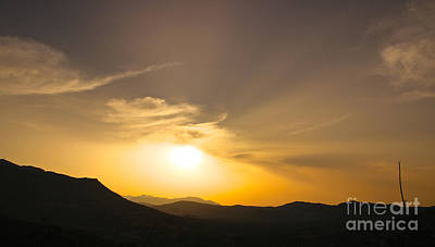 Photograph - Cretan Sunset by David Warrington