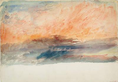 Turner Artwork Painting - Crimson Sunset by Celestial Images