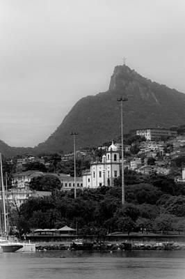 Photograph - Cristo Redentor As Seen From A Boat In The Baia De Guanabara by Celso Diniz