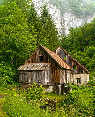 Photograph - Croatian Mountain Cabin by Don Wolf