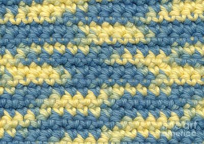 Crochet Made With Variegated Yarn Print by Kerstin Ivarsson