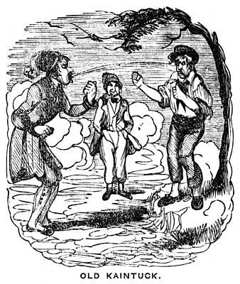 Spit Painting - Crockett Almanac, 1843 by Granger