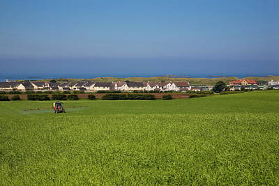 Crop Spraying Barley,near Ballintrae Art Print by Panoramic Images