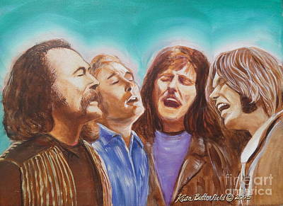 Neil Young Painting - Crosby Stills Nash And Young by Kean Butterfield