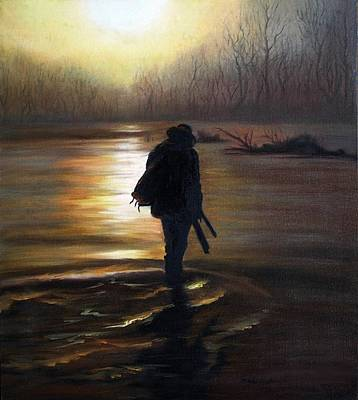 Painting - Crossing The River by Vesna Martinjak
