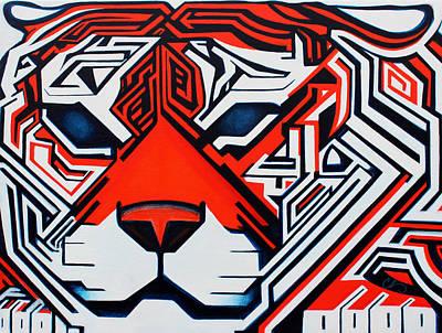 Hidden Agendas Painting - Crouching Tiger   Hidden Agenda by Chris  Hill