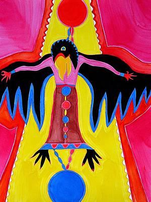 Crow Medicine Original Painting Sold Art Print