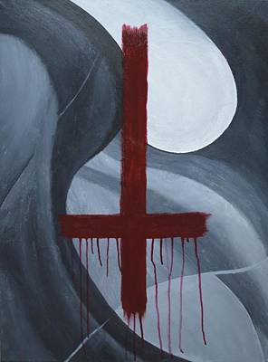 Bloodshed Painting - Crucifix 180 by Thomas Attermann