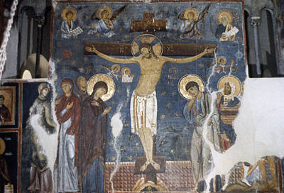 Serbia Painting - Crucifixion, C1200 by Granger