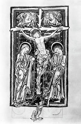 Psalter Painting - Crucifixion Of Christ by Granger