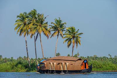 Cruise Boat In Backwaters, Kerala, India Art Print by Ali Kabas