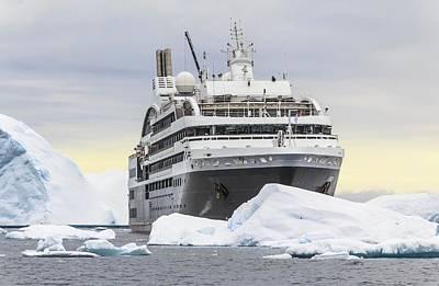 Austral Wall Art - Photograph - Cruise Ship L'austral Sailing Antarctica by Alfred Pasieka/science Photo Library