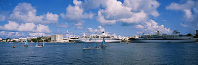 Bermuda Photograph - Cruise Ships Docked At A Harbor by Panoramic Images
