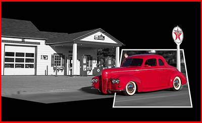 Tom Woolworth Digital Art - Cruising Route 66 Dwight Il by Thomas Woolworth