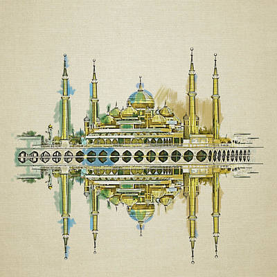 Ethereal - Crystal Mosque by Corporate Art Task Force