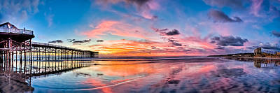 Panoramic Of San Diego Photograph - Crystal Pier Sunset Panoramic by Josh Whalen