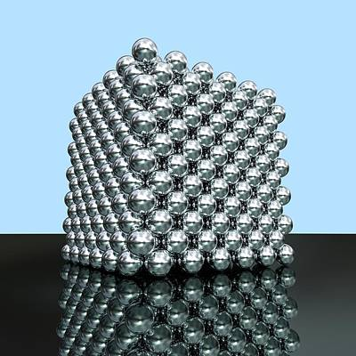 Crystalline Photograph - Crystal Structure Of Thorium by Russell Kightley