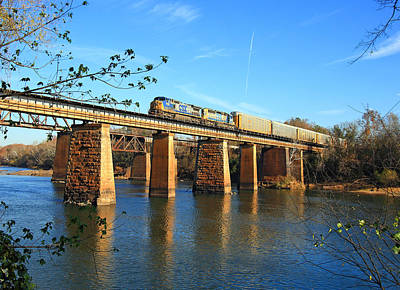 Photograph - Csx Over The Congaree by Joseph C Hinson Photography