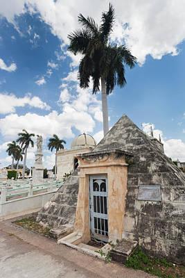 Cuba, Havana, Vedado, Necropolis Art Print by Walter Bibikow