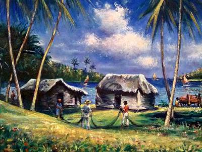 Painting - Cuban Fishing Village by Philip Corley