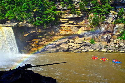 Cumberland Falls Rainbow Art Print by Frozen in Time Fine Art Photography