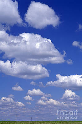 Photograph - Cumulus Clouds In Blue Sky by Jim Corwin
