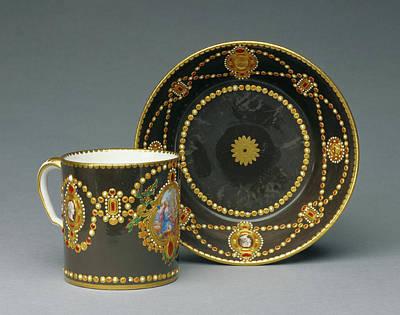 Imitation Painting - Cup And Saucer Gobelet Litron Et Soucoupe Deuxième by Litz Collection