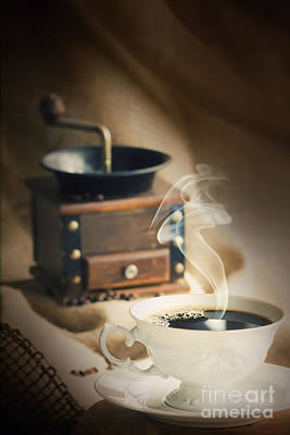 Mythja Photograph - Cup Of Coffee by Mythja  Photography