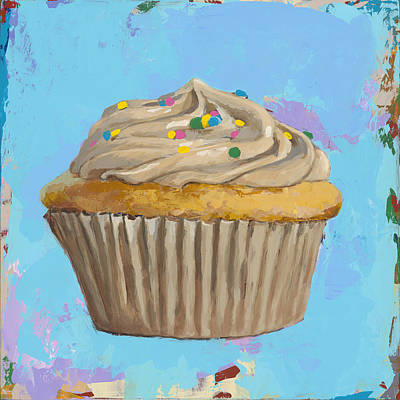 Birthday Painting - Cupcake #1 by David Palmer