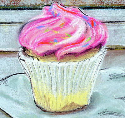 Cupcake Art Print by Anne Seay