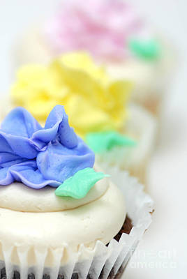 Cupcakes Shallow Depth Of Field Art Print