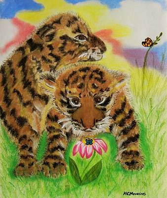 Art Print featuring the pastel Curiosity by Celeste Manning