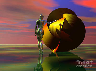 Digital Art - Curiosity by Sandra Bauser Digital Art