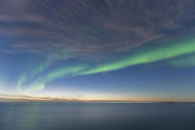 Beaufort Photograph - Curtains Of Green Aurora Borealis Dance by Hugh Rose