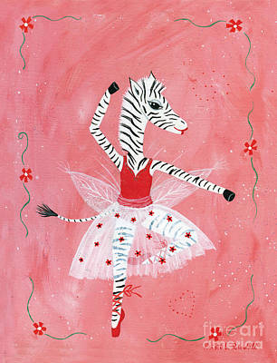 Painting - Custom Child's Zebra Ballerina by Kristi L Randall
