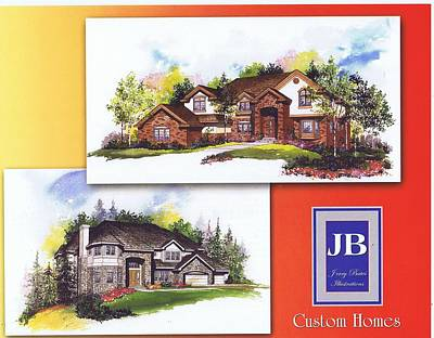 Painting - Custom Homes by Jerry Bates