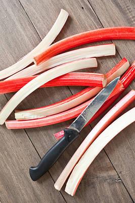 Cutting Rhubarb Art Print