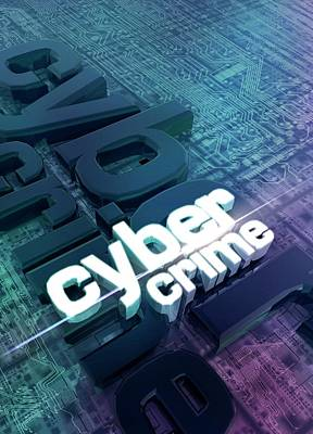 Data Photograph - Cyber Crime by Victor Habbick Visions