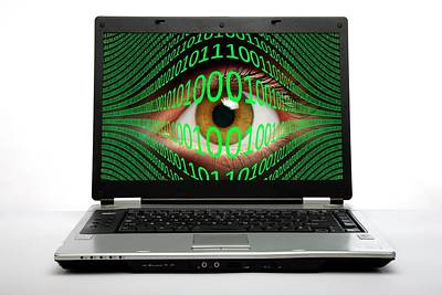 Cyberspying Print by Victor De Schwanberg