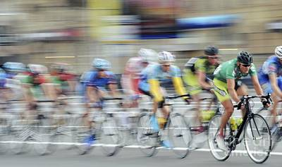 Photograph - Cyclists In A Race by RIA Novosti