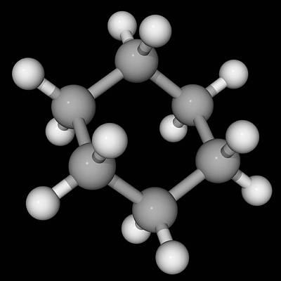 Cyclohexane Molecule Art Print by Laguna Design/science Photo Library